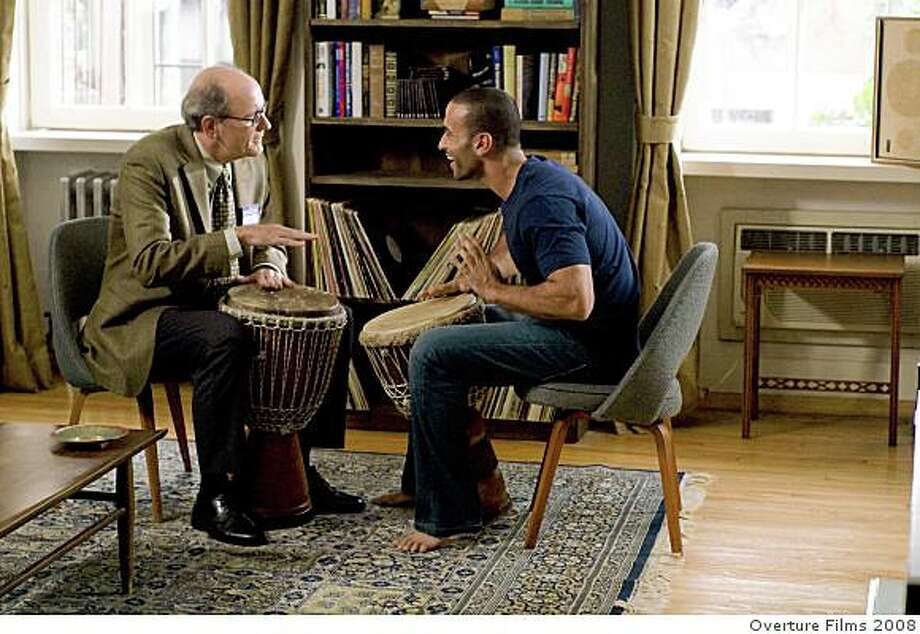 "Richard Jenkins, left, and Haaz Sleiman are shown in a scene from the film, ""The Visitor."" Photo: Overture Films 2008"