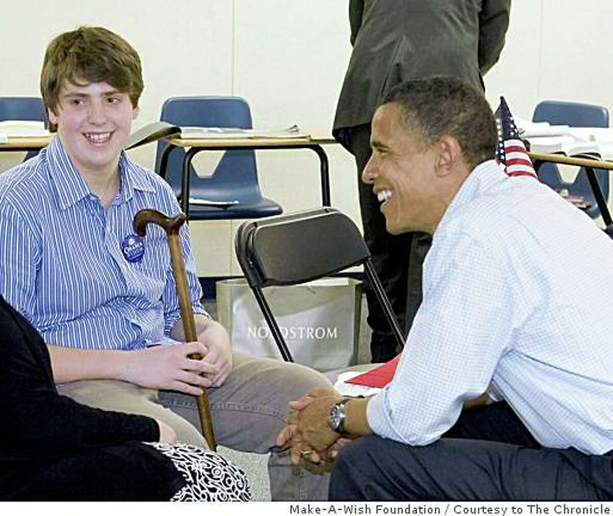 James Rowcliffe Kessler's wish with the Make-A-Wish Foundation was to meet Sen. Barack Obama. He got his wish in Henderson, Nv.