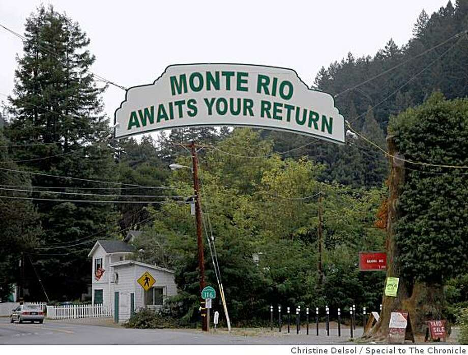Monte Rio, Calif -- On the Russian River, at the northern end of the Bohemian Highway, Monte Rio is the home of the fabled Bohemian Grove and has been a popular resort area for more than a century. Photo: Christine Delsol, Special To The Chronicle