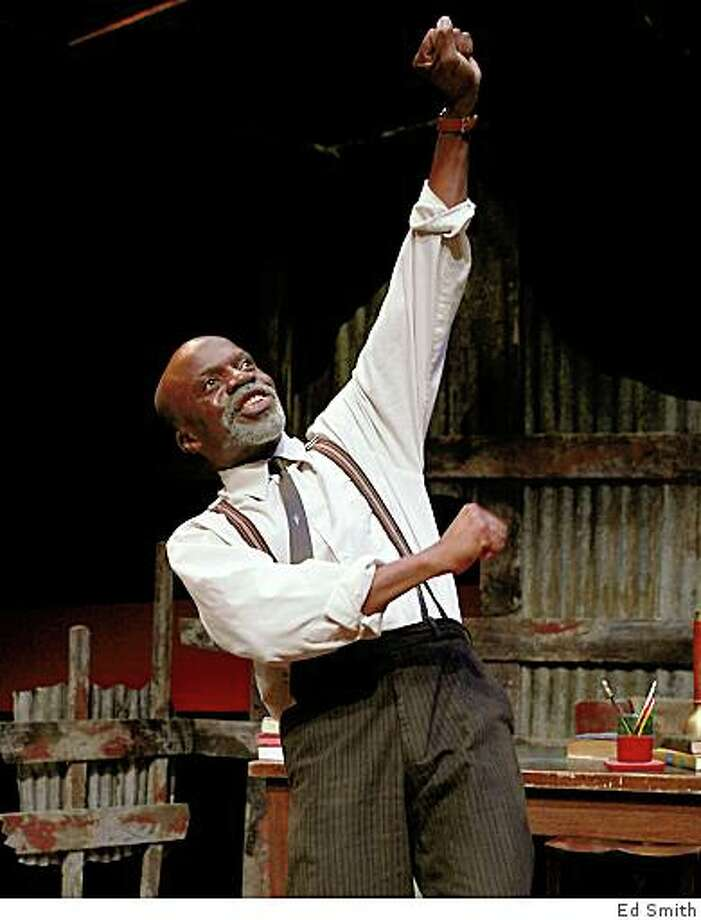 "L. Peter Callender as the idealistic teacher Mr. M trying to battle South African apartheid in Athol Fugard's ""My Children! My Africa!"" at Marin Theatre Company Photo: Ed Smith"
