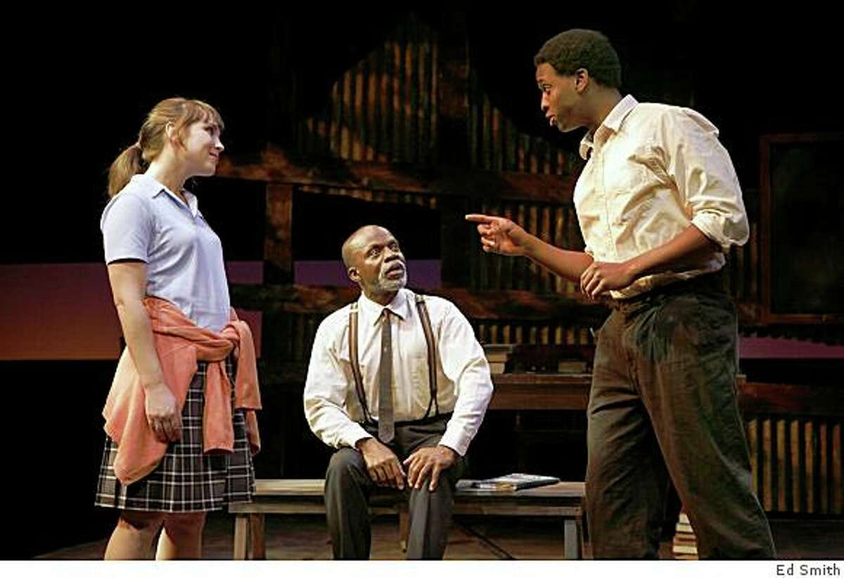 Laura Morache (left), L. Peter Callender and Lloyd Roberson II in Athol Fugard's