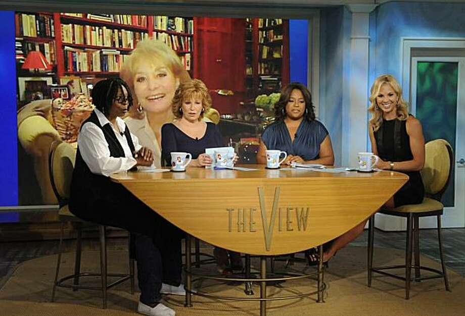 "FILE - In this July 12, 2010 publicity image released by ABC, Barbara Walters is shown on screen via Skype as co-hosts, from left, Whoopi Goldberg, Joy Behar, Sherri Shepherd and Elisabeth Hasselbeck are shown during a broadcast of ""The View,"" in New York. Photo: Jeffrey Neira, AP"