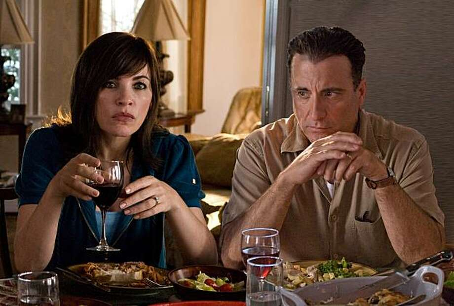 (L to R) Julianna Margulies and Andy Garcia star in Anchor Bay FilmsÕ CITY ISLAND. Photo: Phil Caruso
