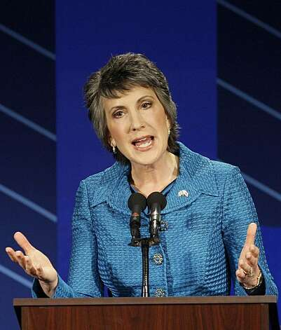 Republican Carly Fiorina speaks during a debate with Democratic Sen. Barbara Boxer at St. Mary's College in Moraga, Calif., Wednesday, Sept. 1, 2010. (AP Photo/Jeff Chiu, pool) Photo: Jeff Chiu, AP