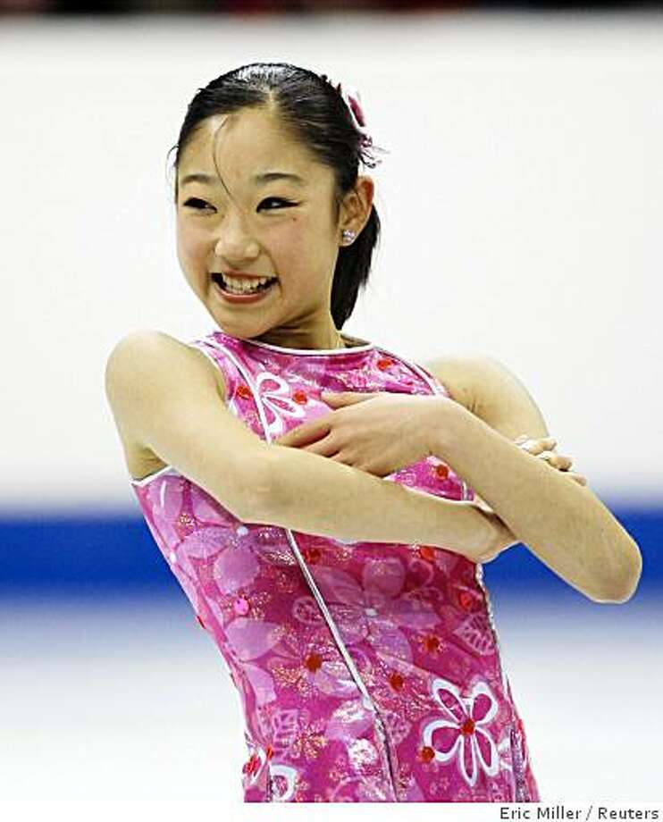 Mirai Nagasu finishes her Senior Ladies Short Program routine at the 2008 U.S. Figure Skating Championships in St. Paul, Minnesota, January 24, 2008.           REUTERS/Eric Miller (UNITED STATES) Photo: Eric Miller, Reuters