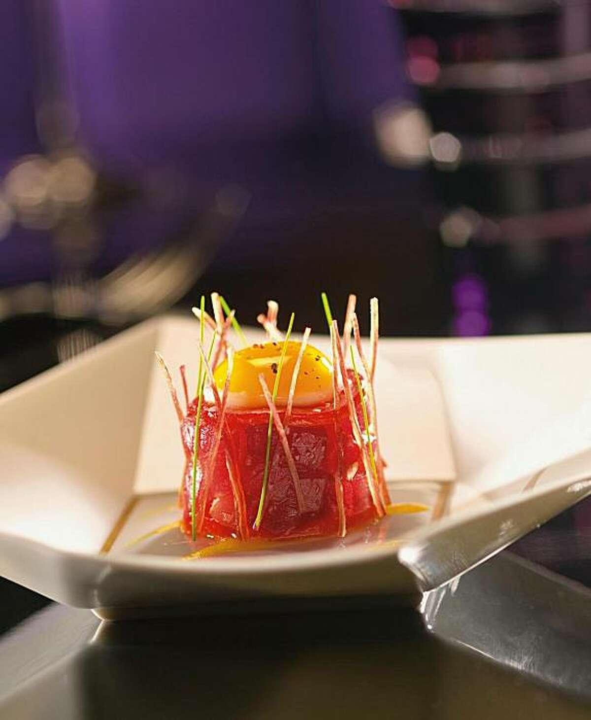 """""""Le Thon,"""" a tuna tartare dish as seen at Joël Robuchon in Las Vegas."""
