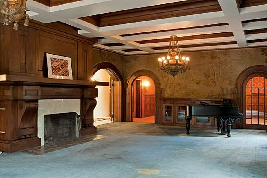 A piano room at the Spring Mansion in Berkeley for the real estate cover. Photo: Courtesy, Scott Hargis Photography