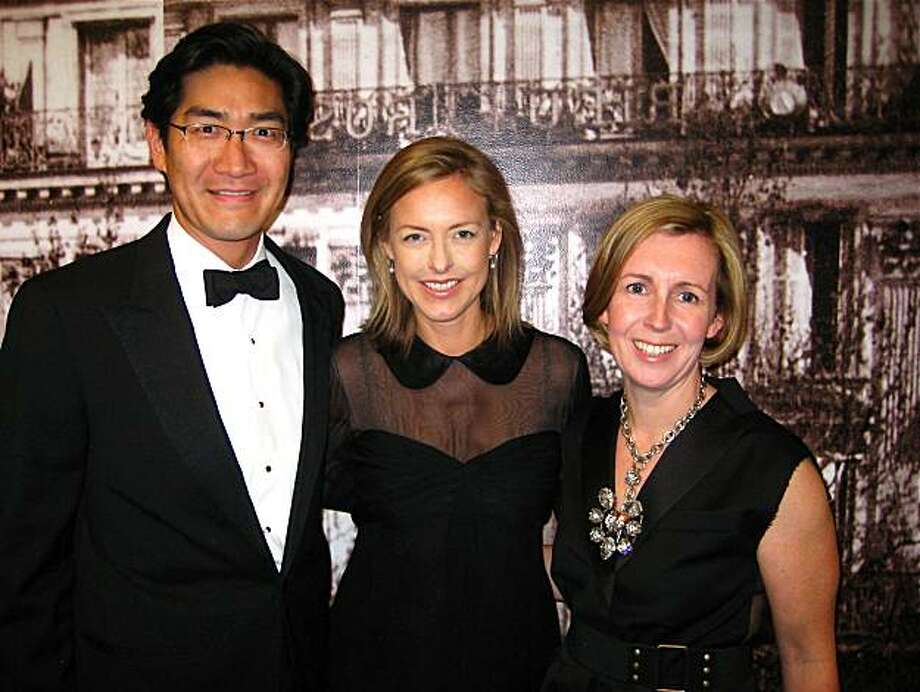 Gala Committee member David Chung (left), his wife, Kate Sheridan Chung and Symphony Gala chairwoman Emma Goltz. April 2010. By Catherine Bigelow Photo: Catherine Bigelow, Special To The Chronicle