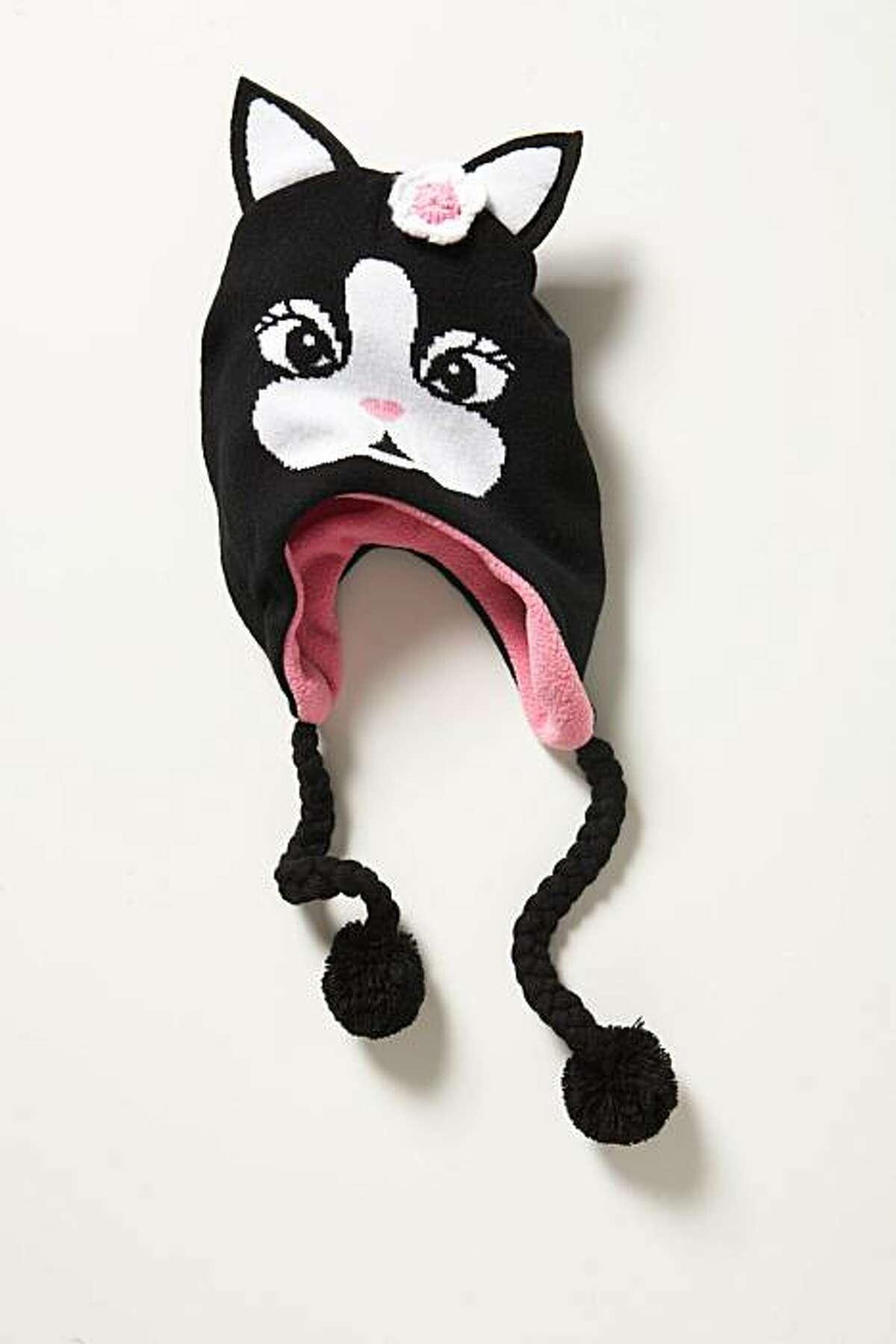 The Rebecca Bonbon cotton ear muff hat with dog ears ($6).
