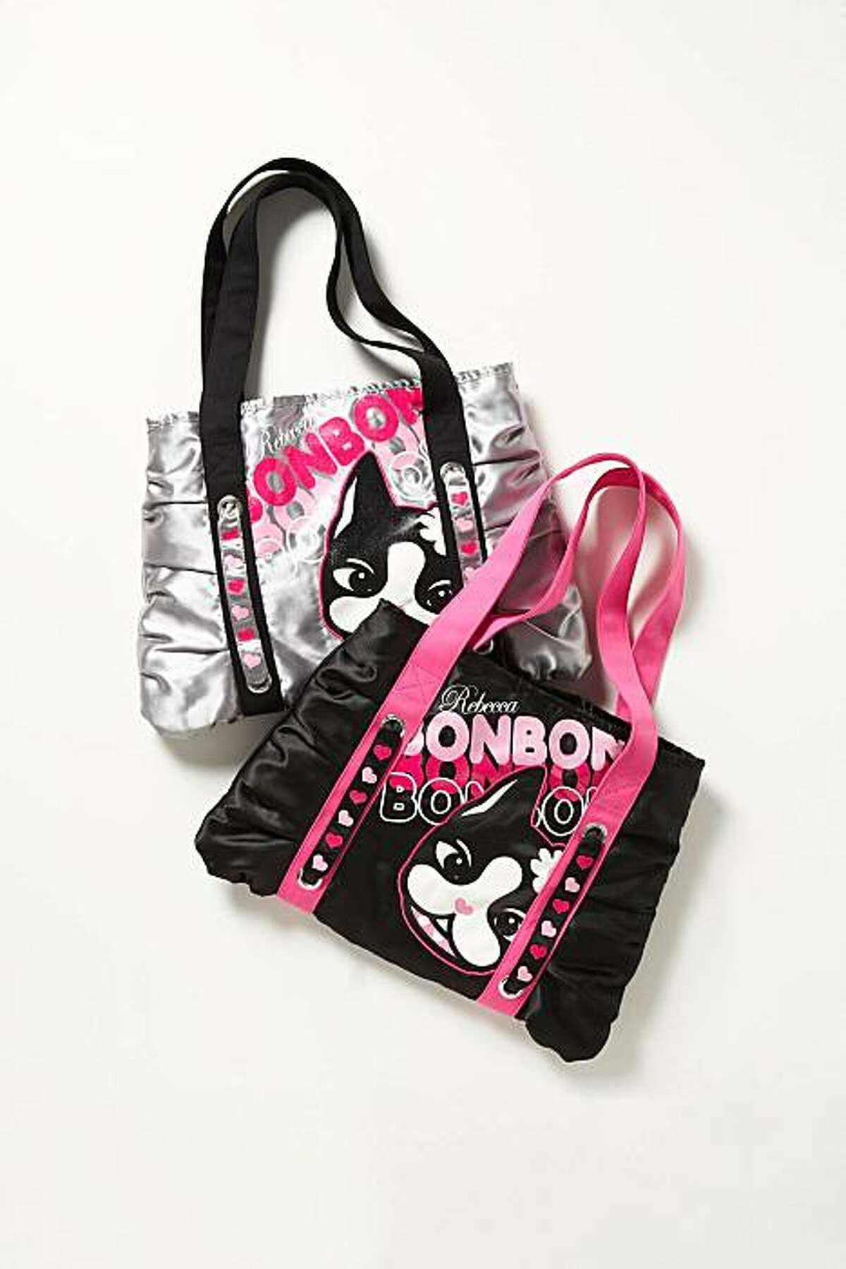 Canvas crossbody bags ($10) featuring Rebecca Bonbon, the icon for Sears Holding Corp.'s new tween and juniors line.