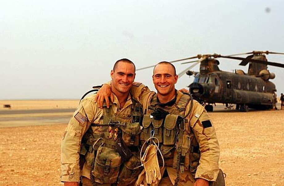 Pat Tillman (left) and his brother Kevin from Amir Bar-Lev's THE TILLMAN STORY Photo: Donald Lee, The Weinstein Co.