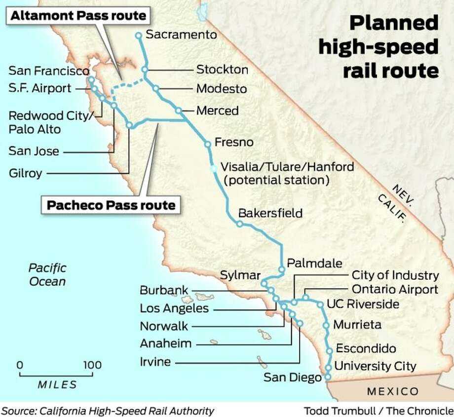 Pacheco Pass high-speed rail route wins again - SFGate