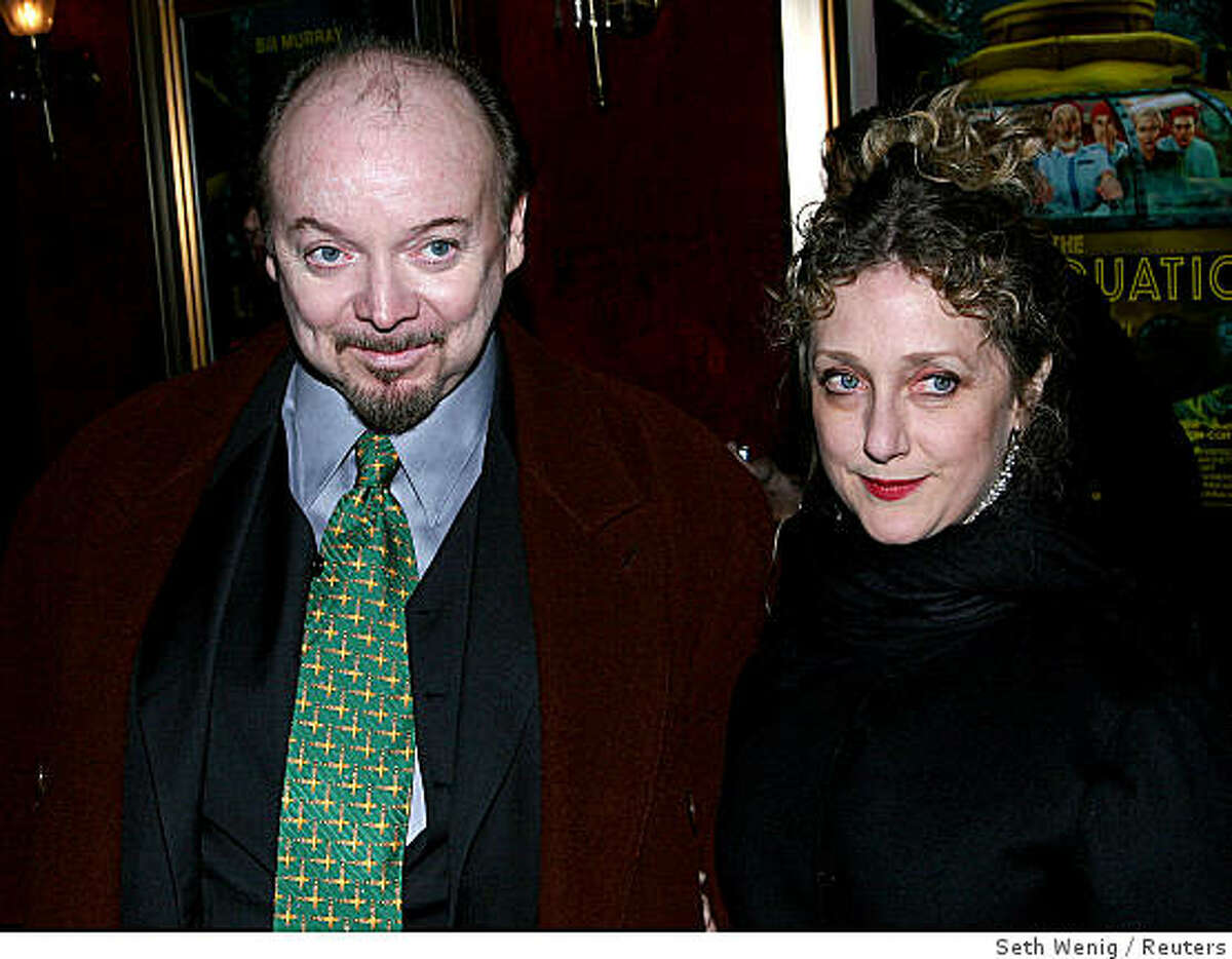Actors Bud Cort and Carol Kane pose for pictures at the premiere of 'The Life Aquatic' in New York City on December 9, 2004. The movie will be released nationwide on December 25, 2004.