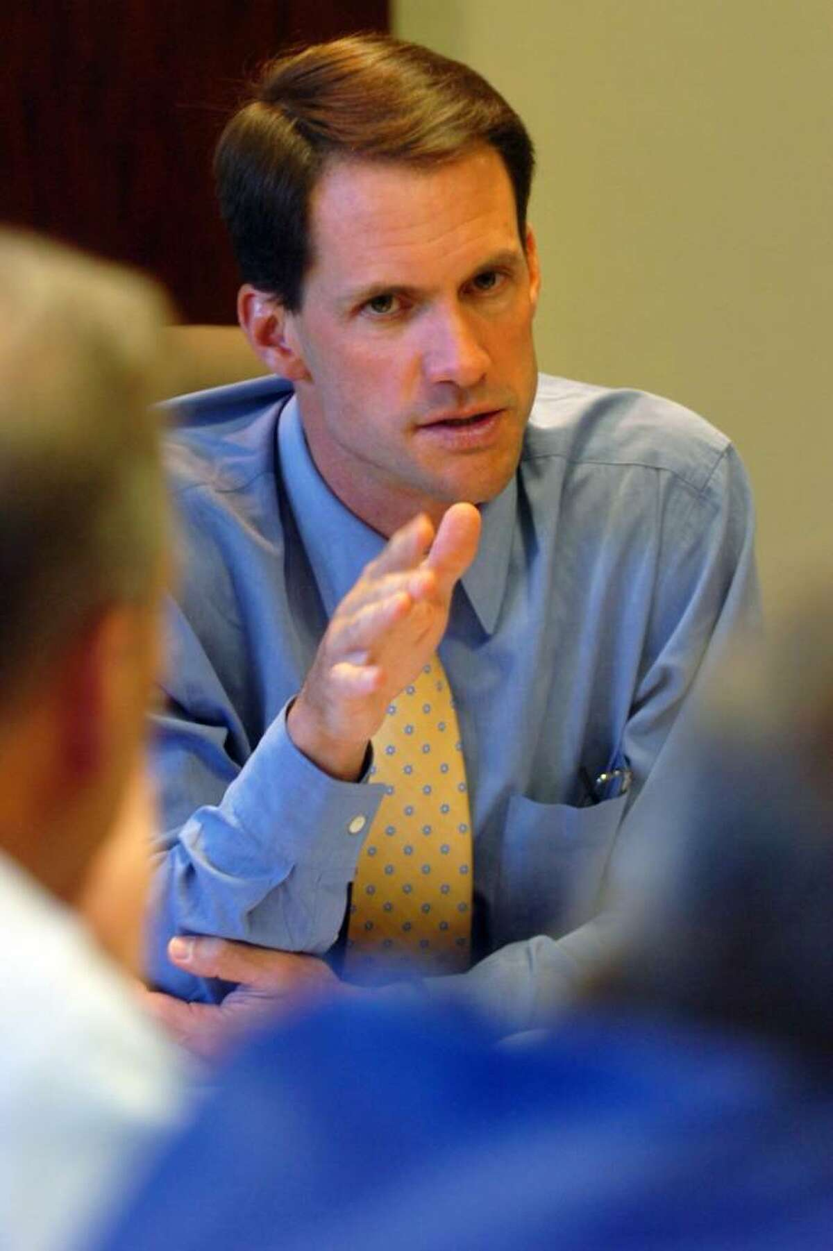 Congressman Jim Himes meets with members of the Fairfield County Medical Association in Trumbull, Conn. on Thursday, Aug. 27, 2009.