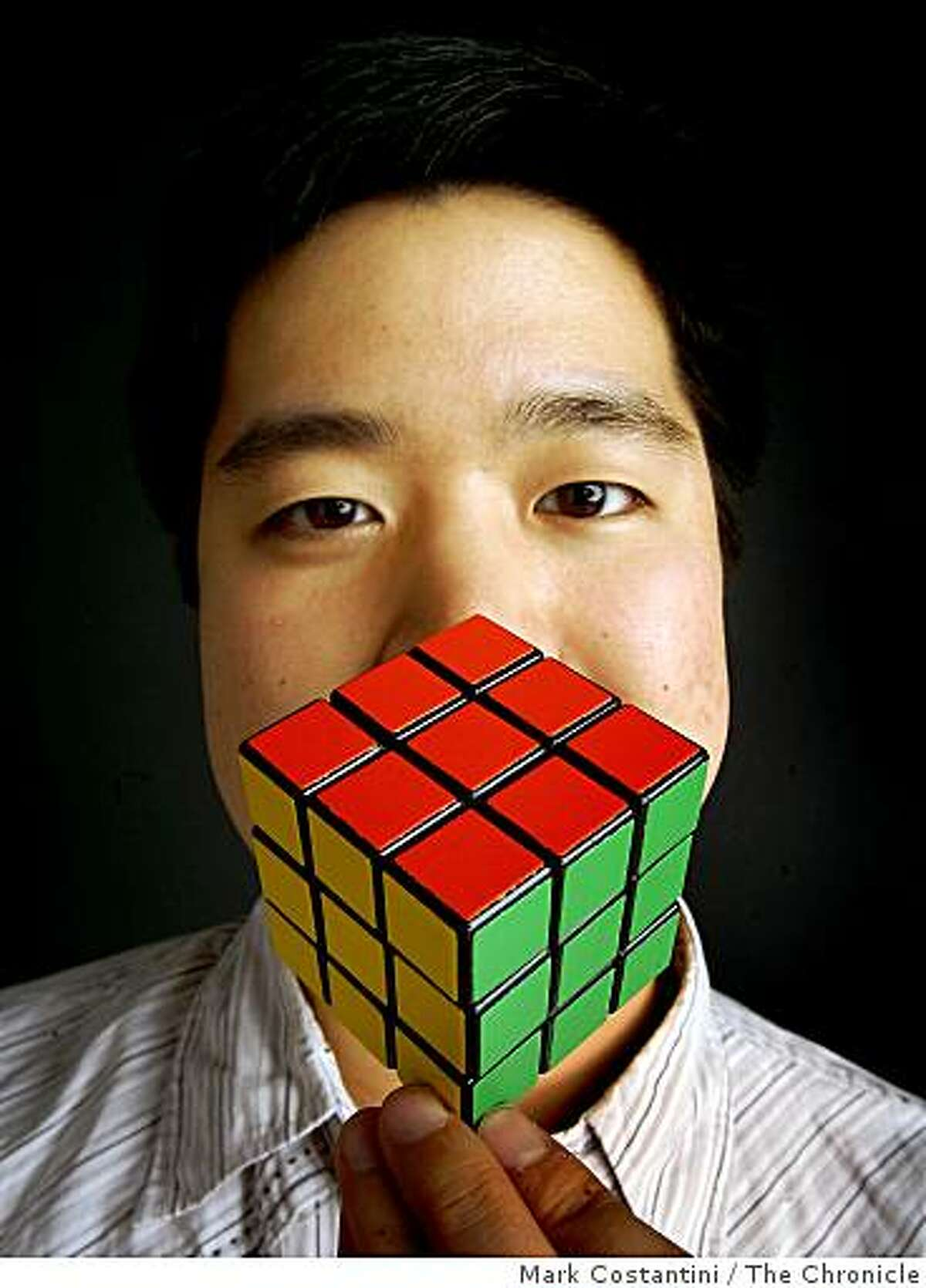 Leyan Lo and his Rubik's cube were photographed in San Francisco, Calif., on Monday, January 12, 2009.