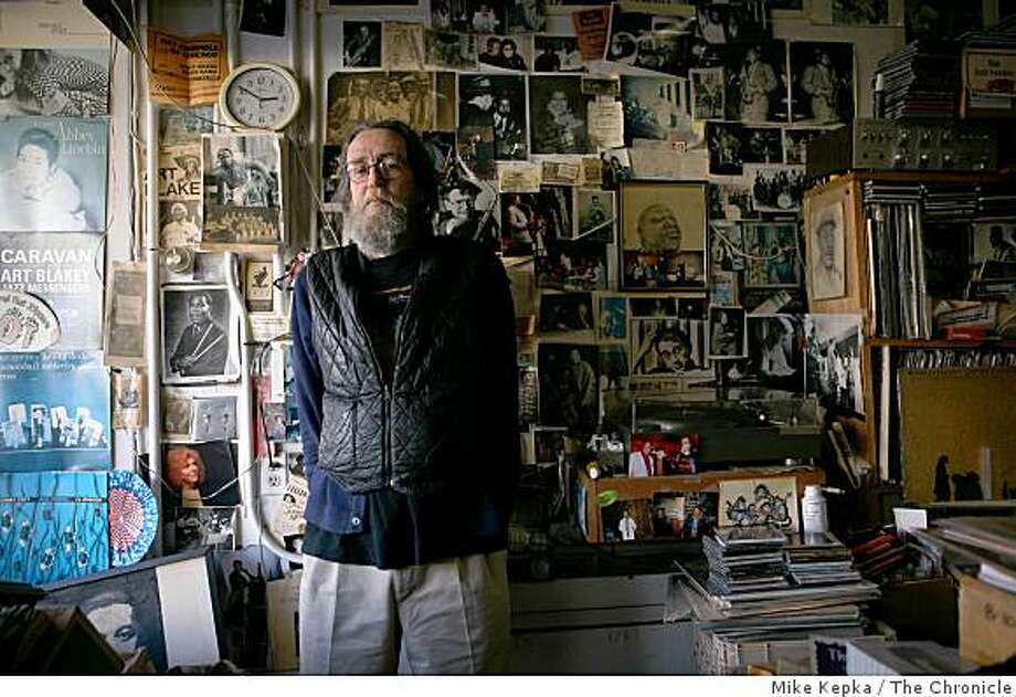 Tom Madden, who owns and operates Jazz Quarter, stands in his store on Tuesday Dec. 23 ,2008 in San Francisco, Calif. Madden runs one of the last remaining independent record stores in S.F. Photo: Mike Kepka, The Chronicle