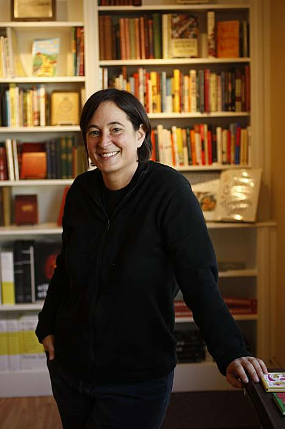 Celia Sack, owner of Omnivore, a new bookstore that is devoted to new and antiquarian cookbooks in San Francisco, Calif., on January 7, 2009.