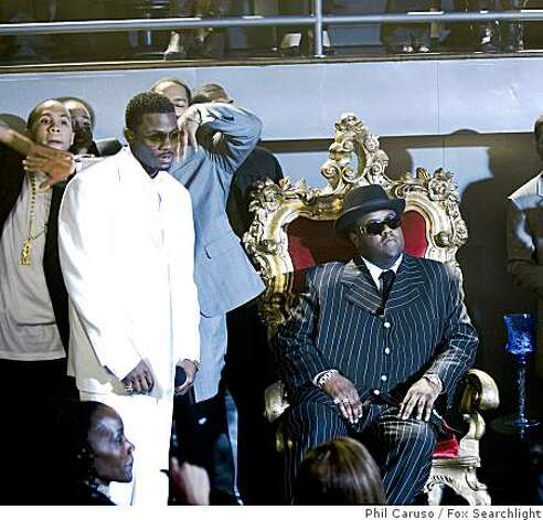"Derek Luke (L) and Jamal Woolard (R) as the Notorious B.I.G. in ""Notorious."" Photo: Phil Caruso, Fox Searchlight"