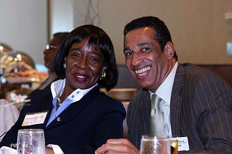 BART Board member Lynette Sweet and unidentified attendee  he San Francisco African American Chamber of Commerce held its' annual Juneteenth Business Luncheon which raised over $65,000 for the Chamber's business development and youth educational programs. Photo: Auintard Henderson, Special To The Chronicle