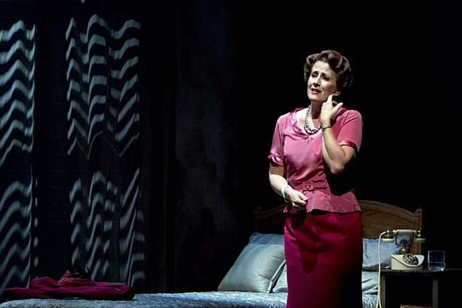 """Protective mother Margaret (Rebecca Eichenberger) worries about her fragile daughter Clara on vacatin in Italy in """"The Light in the Piazza"""" at TheatreWorks Photo: Tracy Martin"""