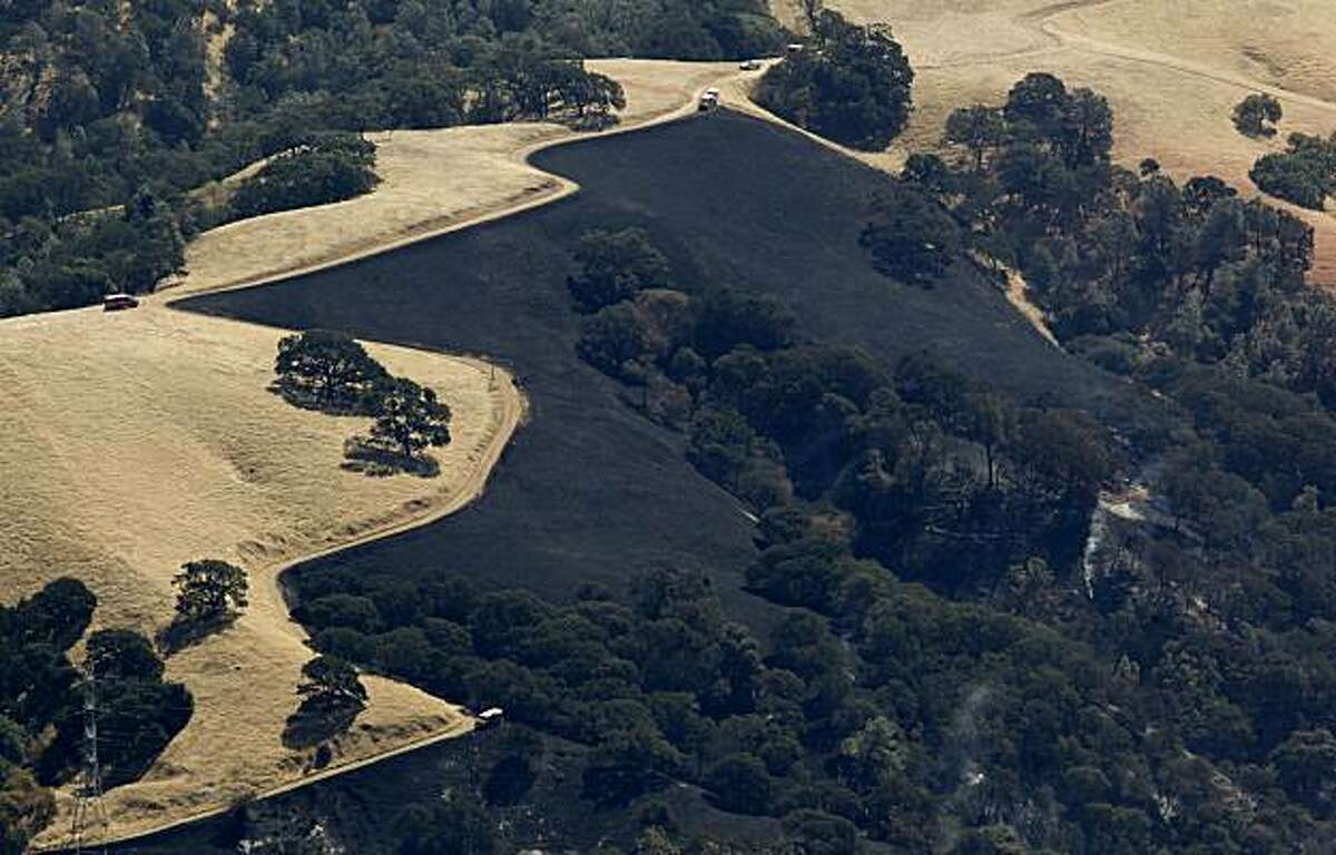 The Curry Fire on the east slopes of Mt. Diablo State Park was reported at 80 percent containment on Wednesday morning.