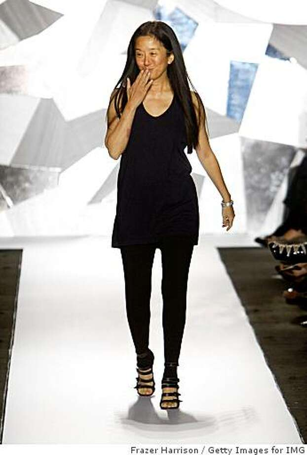 NEW YORK - SEPTEMBER 11:  Designer Vera Wang walks the runway at the Vera Wang Spring 2009 fashion show during Mercedes-Benz Fashion Week at The Tent, Bryant Park on September 11, 2008 in New York City.  (Photo by Frazer Harrison/Getty Images for IMG) Photo: Frazer Harrison, Getty Images For IMG