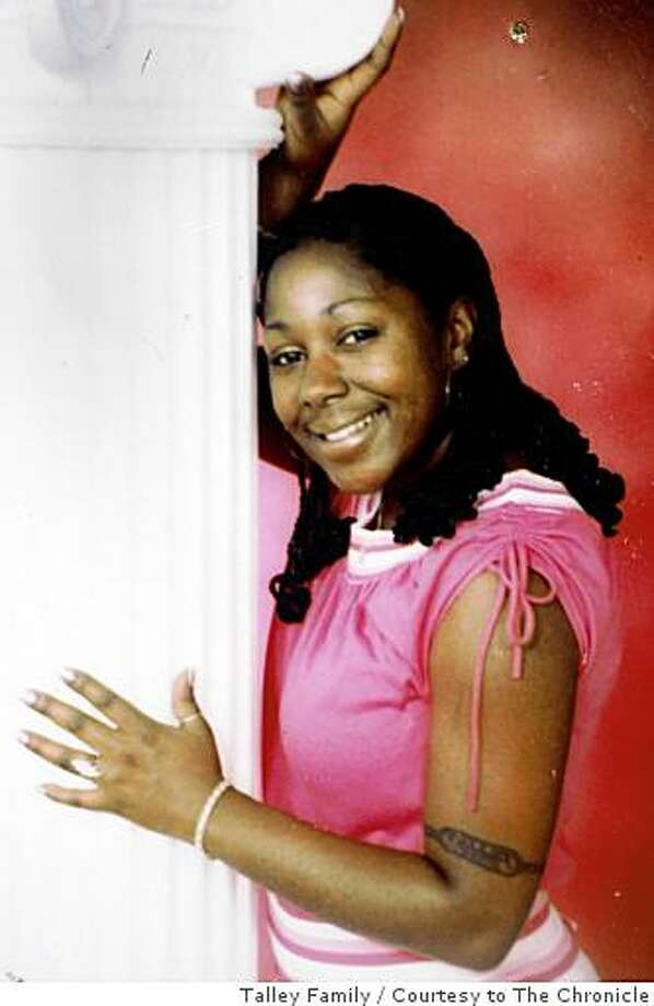 A photograph of Taneka Talley was made available by her family in Vallejo, Calif., on Wednesday, Nov. 26, 2008. Talley was fatally stabbed to death in 2006 but her insurance company is refusing to pay benefits to her son claiming the murder was racially motivated. Photo: Talley Family, Courtesy To The Chronicle