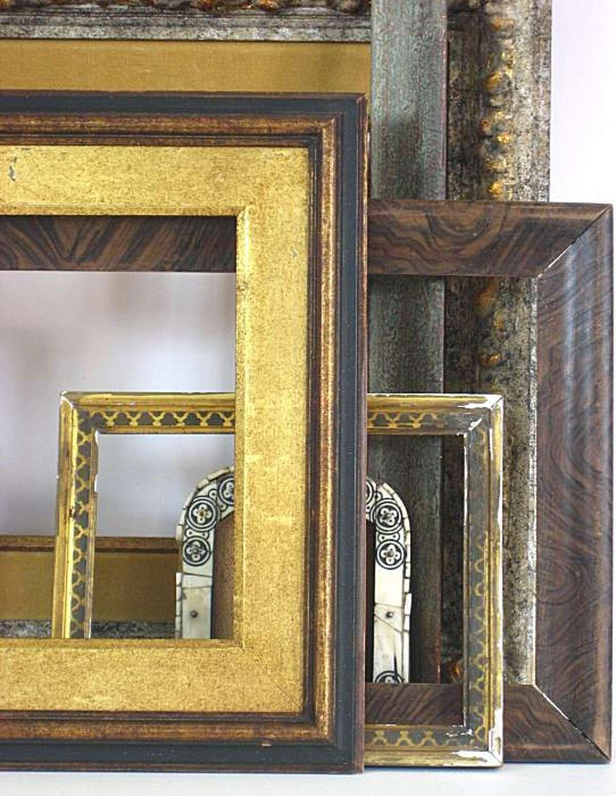 Original period frames.