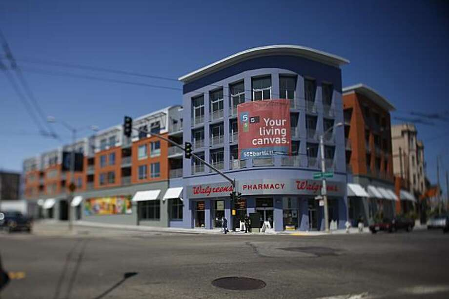 A new condo building at the corner of Mission Boulevard and Cesar Chavez Street is seen in San Francisco, Calif. on Thursday August 19, 2010. Photo: Lea Suzuki, The Chronicle