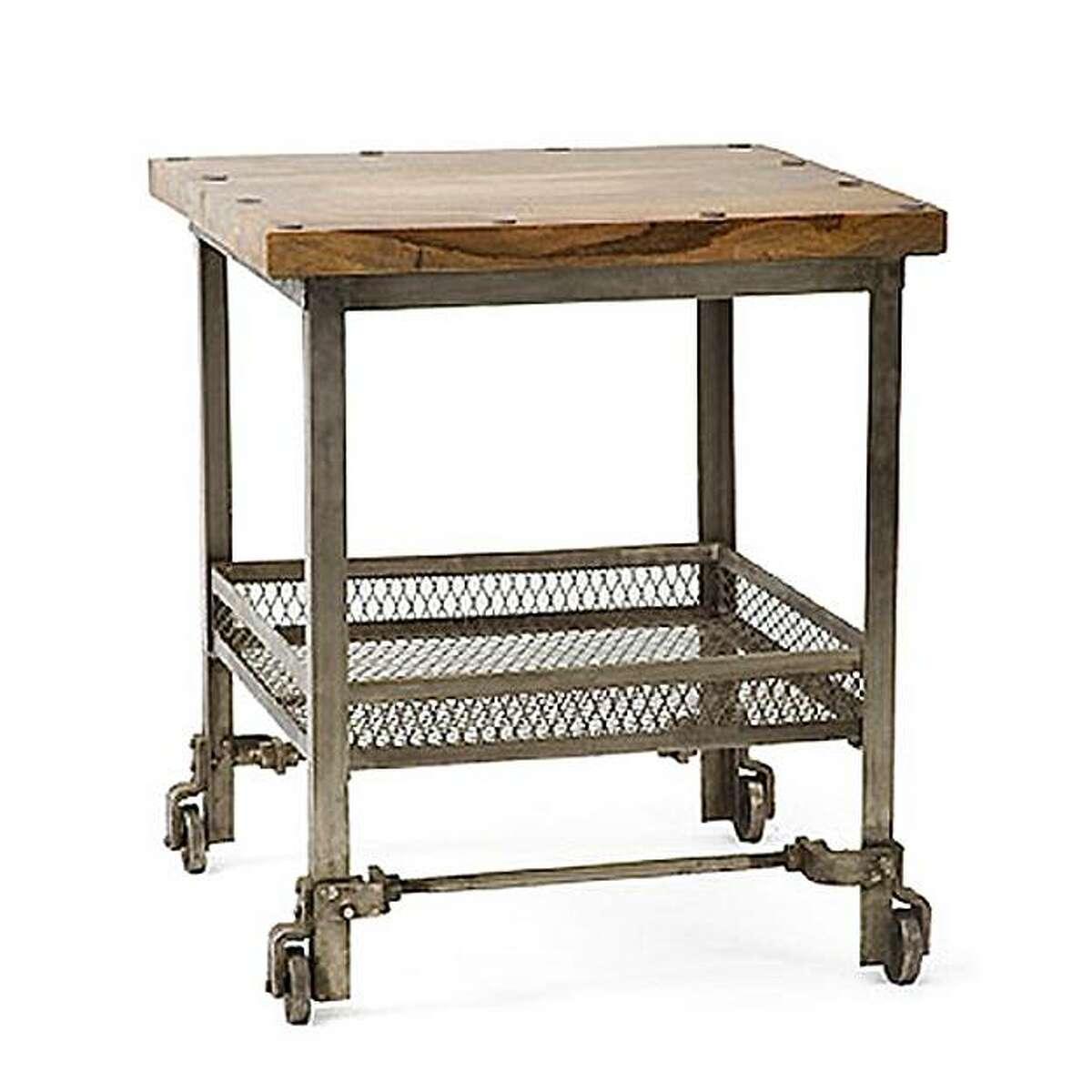 Factory Cart Side Table from HudsonGoods.com