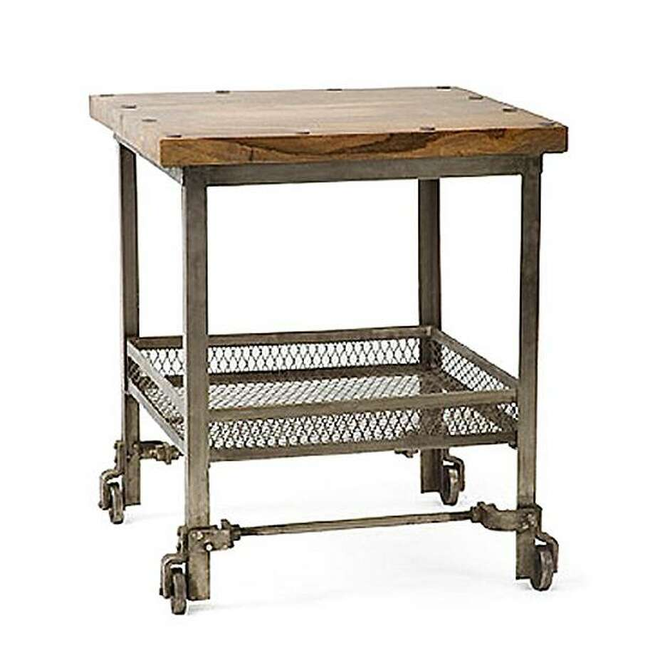 Factory Cart Side Table from HudsonGoods.com Photo: HudsonGoods.com