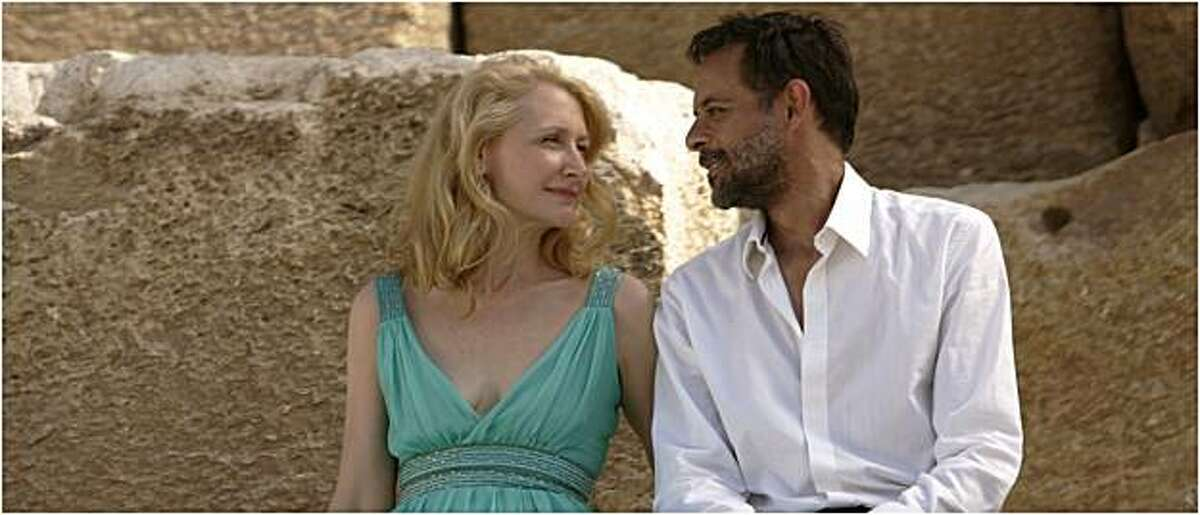 Patricia Clarkson as Juliette and Alexander Siddig as Tareq in CAIRO TIME directed by Ruba Nadda