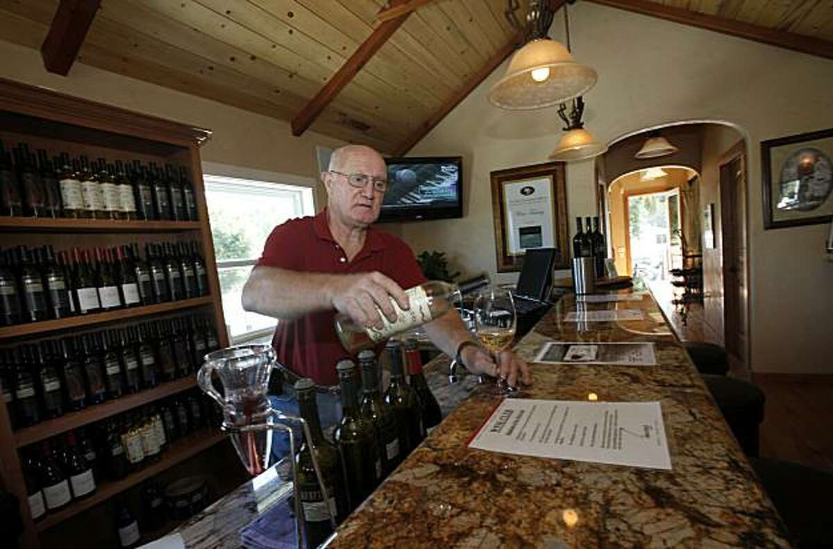 John Ross pours at one of the many wine tasting outlets, Uncorked at the Oxbow. Napa, Calif. is one of the most visited cities in the Bay Area and features fine restaurants, wineries, a renovated downtown and scenic vineyards.