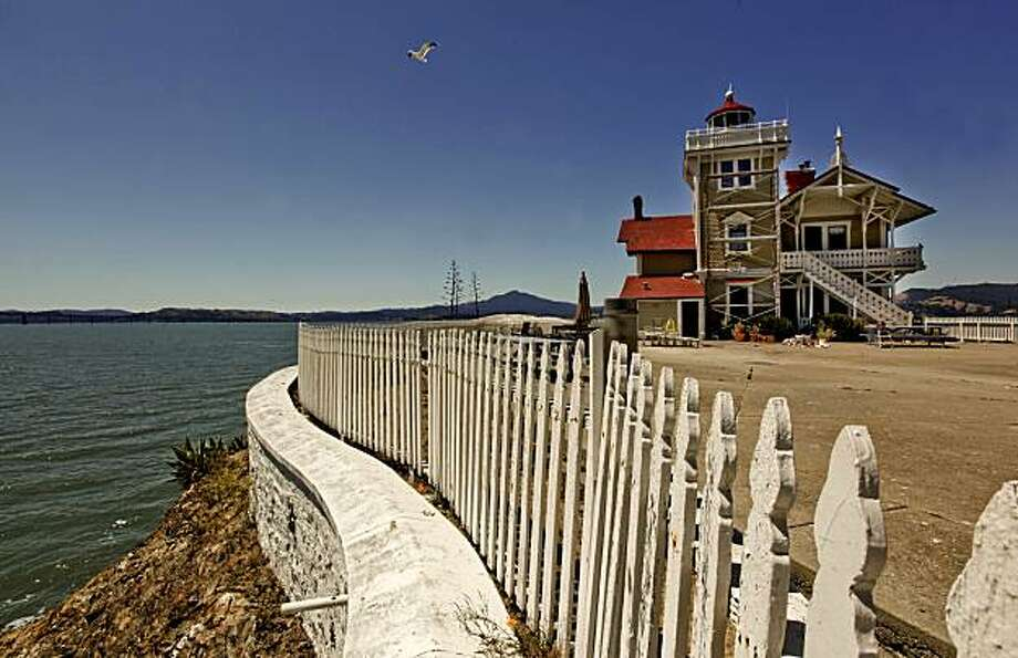 The East Brother Island Lighthouse in San Pablo, Calif. on Wednesday August 18, 2010, is also a boutique 5-bedroom inn. The present innkeepers are leaving the island after two years running the place. They are looking for new innkeepers to take over the business. The exterior is currnetly being painted. Photo: Michael Macor, The Chronicle