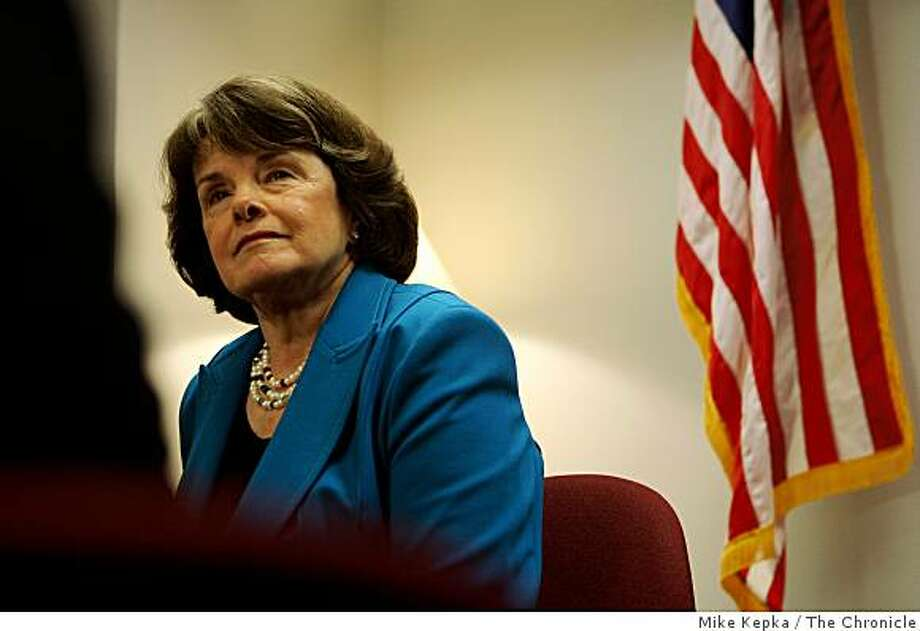 Sens. Dianne Feinstein, D-San Francisco, and Olympia Snowe, R-Maine, said Tuesday that they will propose legislation next month to force companies that receive money from the fund to report how they have spent it.    Thirty years after the deaths of San Francisco Mayor George Moscone and Supervisor Harvey Milk, Senator Dianne Feinstein addresses members of the press in her downtown offcie on Tuesday Nov 25, 2008 in San Francisco, Calif. Photo: Mike Kepka, The Chronicle