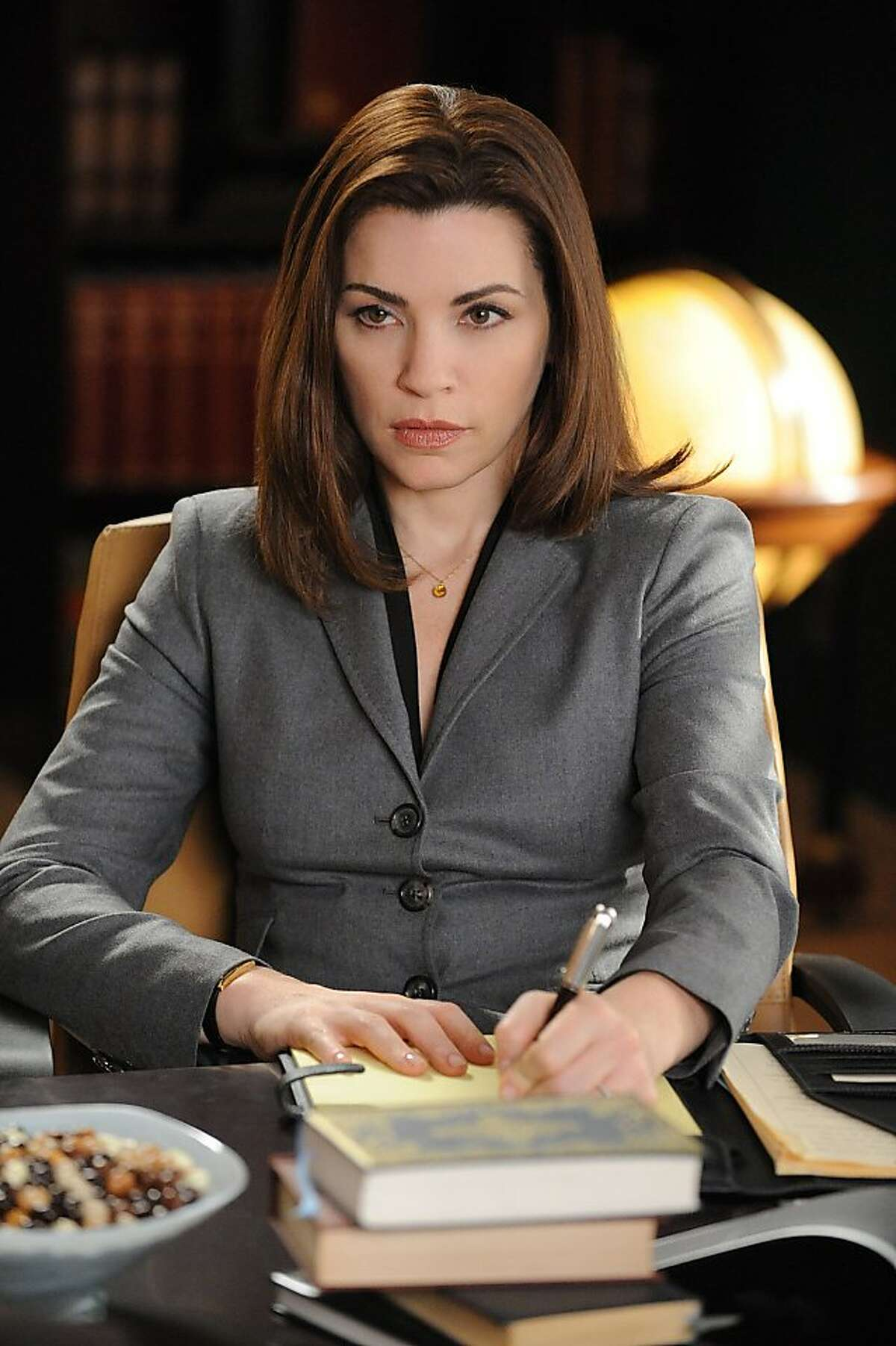 """In this publicity image released by CBS, Julianna Margulies is shown in a scene from """"The Good Wife."""""""