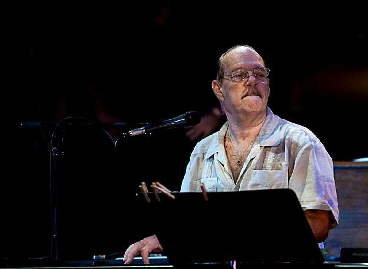 Latino pianist Larry Harlow with the Mazel Tov, Mis Amigos band at Lincoln Center last year. He'll be with the group recreating the classic album live at Yoshi's San Francisco on Aug. 30