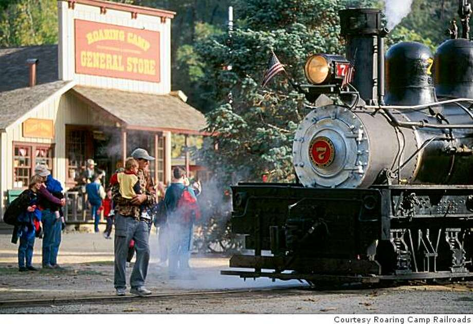 Saturday: It is the seventh annual National Train Day, featuring over 200 events across the country - at local train stations, railroad museums, and other locations - celebrating train travel and the ways that trains touch the lives of people across. This year's theme is 'trains matter.' Photo: Courtesy Roaring Camp Railroads