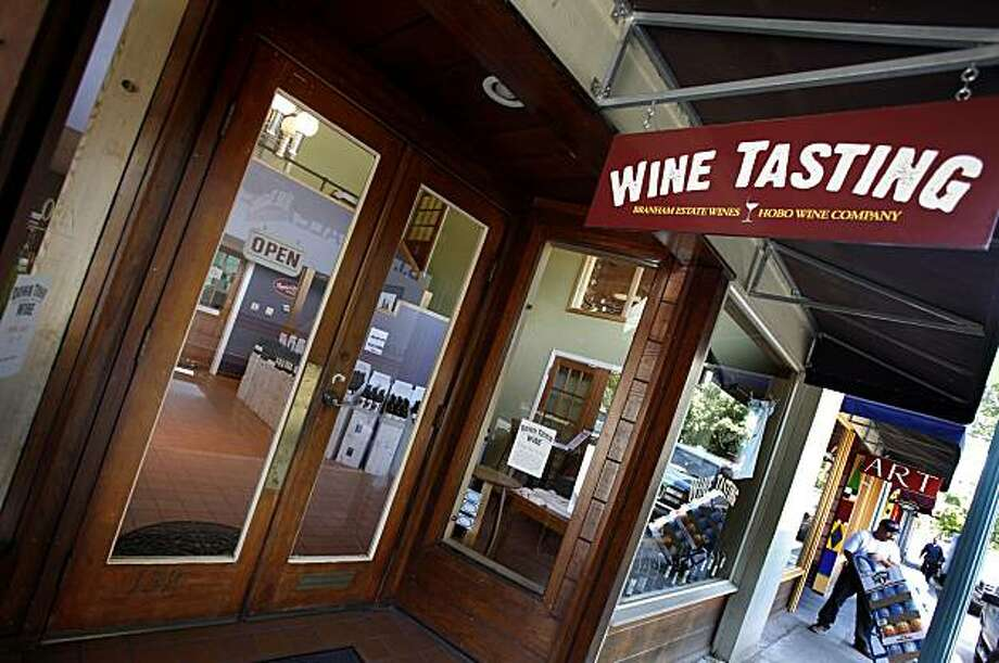 The exterior of the Downtown Winery on Plaza Street in Healdsburg, Calif. The Hobo Wine Company shares a tasting room with other vintages just off the Plaza in downtown Healdsburg, Calif. Photo: Brant Ward, The Chronicle