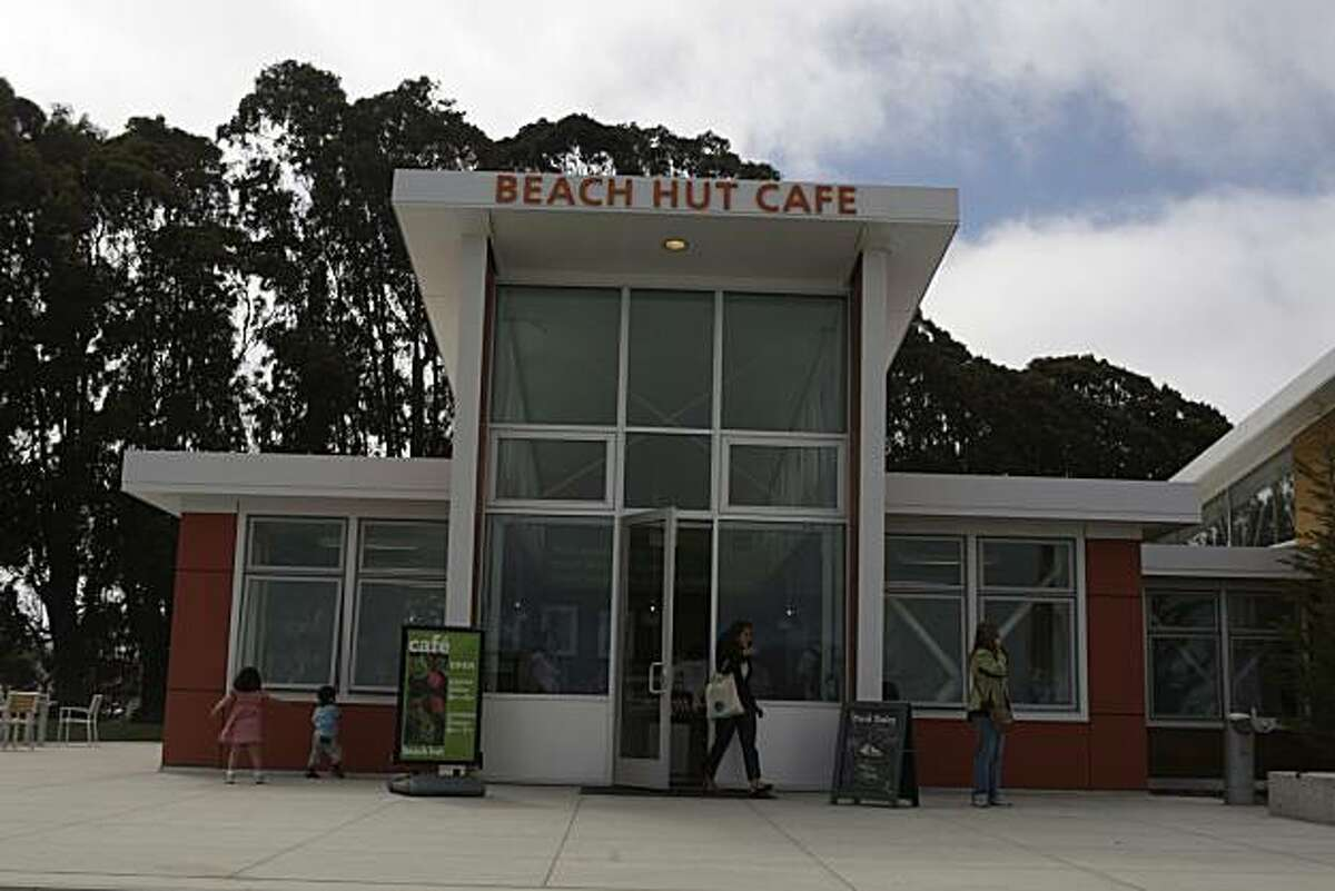 The Beach Hut Cafe anchors the temporary Crissy Field Center.