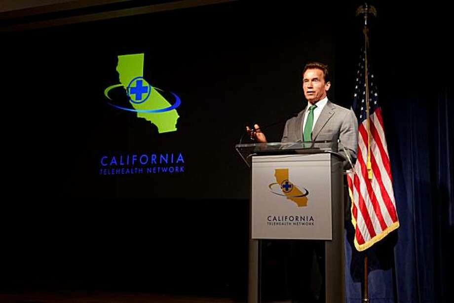 Governor Schwarzenegger delivering remarks at the announcement of the California Telehealth Network launch, August 17, 2010. Photo: Justin Short, Office Of The Governor