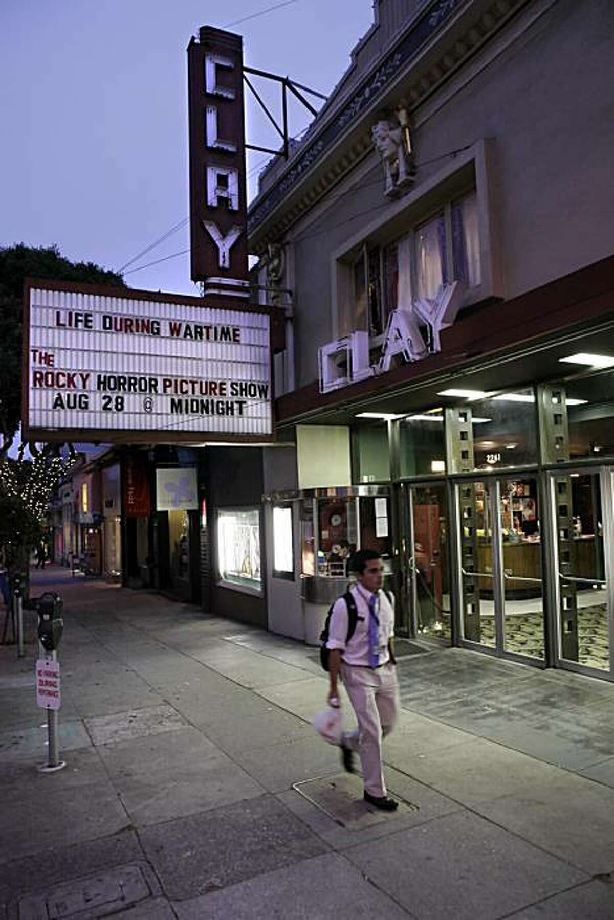 The Clay Theater on Fillmore Street in San Francisco, Calif., seen here on Wednesday, August 18, 2010, is scheduled to shut down at the end of August. It is one of the last single screen theaters in the city.