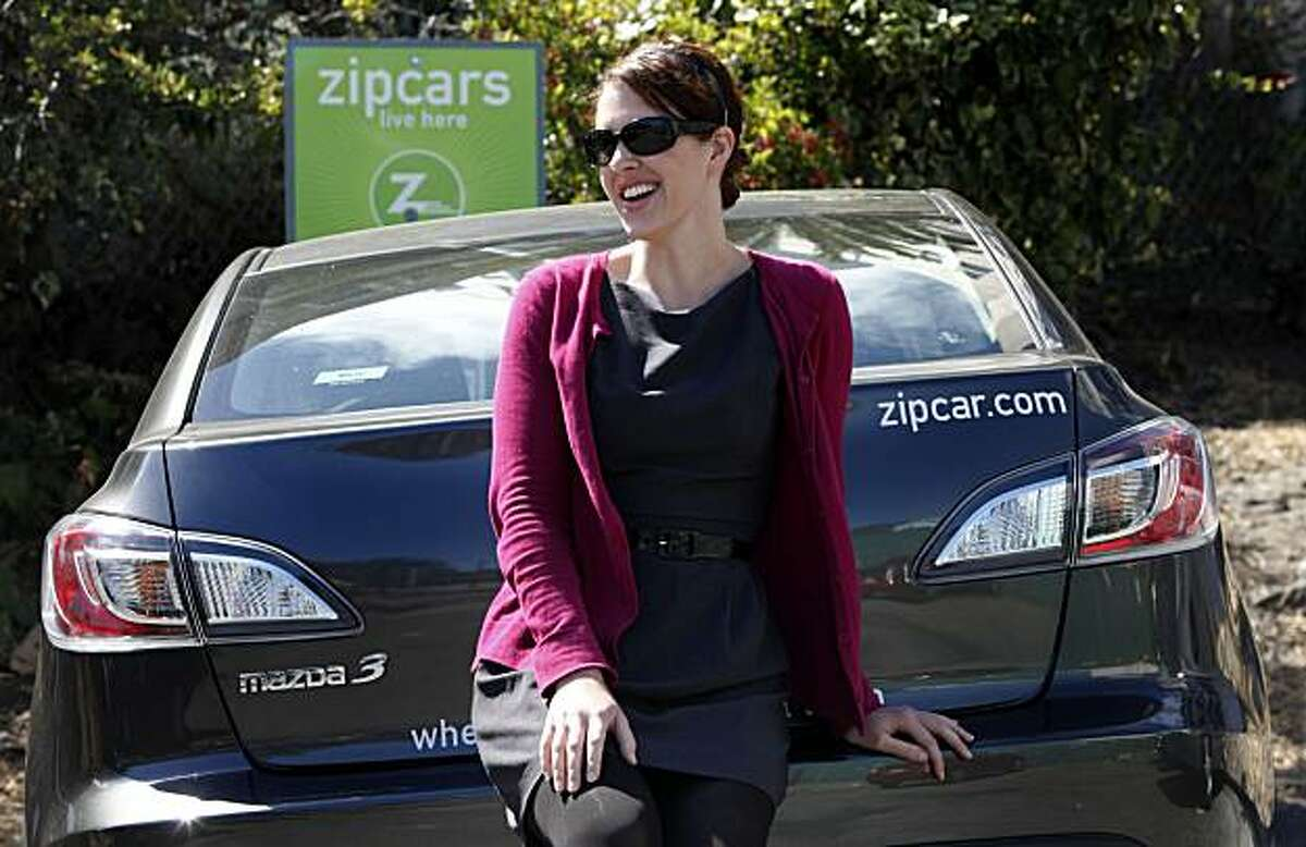 Geri-Ayn Gaul is a ZipCar customer who often picks up her car at a company lot at the corners of Market and Buchanan (near 13th/Duboce) Friday August 13, 2010.
