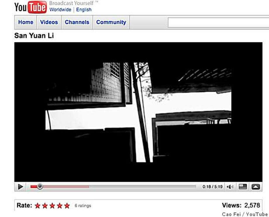 "Frame grab from the version, abbreviated for YouTube, of ""San Yuan Li"" (1998/2003) by Cao Fei, Ou Ning and the video collective U-theque. Photo: Cao Fei, YouTube"