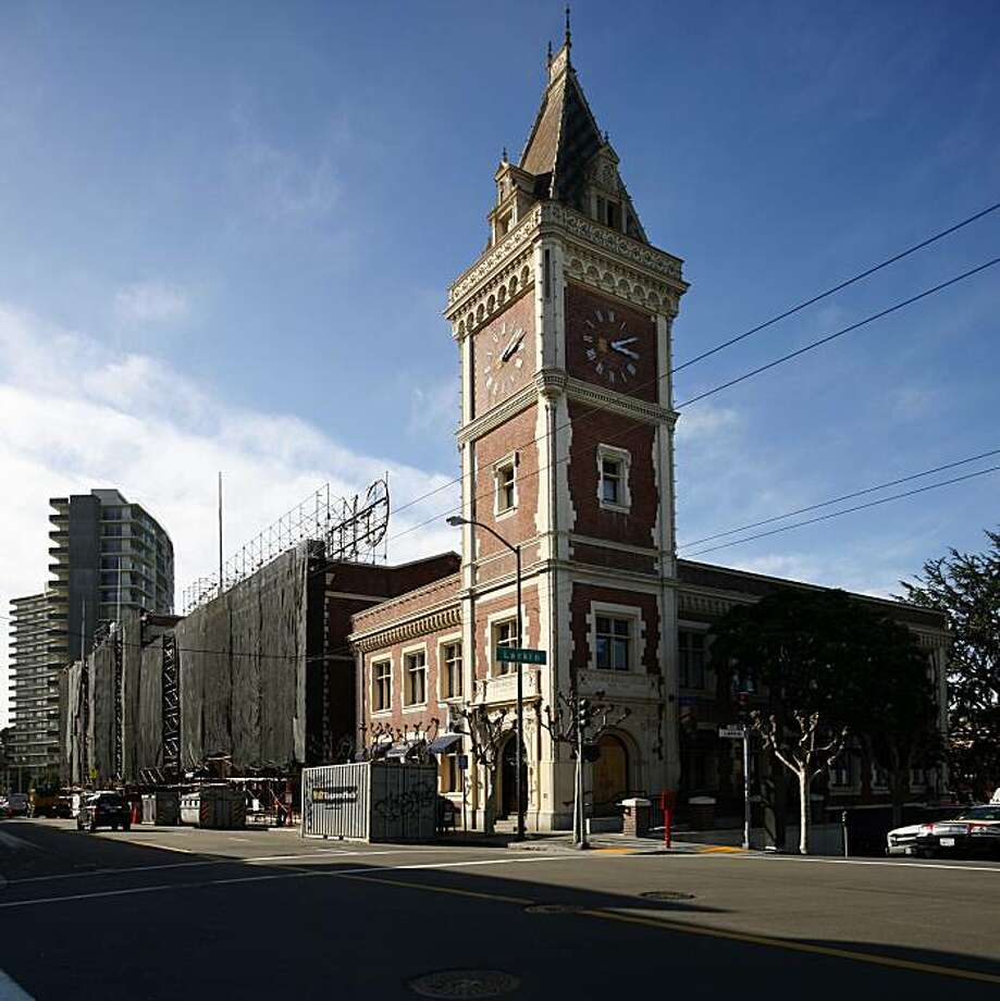 The Ghirardelli Square building in San Francisco, Calif., was undergoing major remodeling and reconstruction on February 20, 2008 to accommodate the Fairmont Heritage Place, which will be part of the complex. Photo by Kim Komenich / San Francisco Chronicle Photo: Kim Komenich, The Chronicle