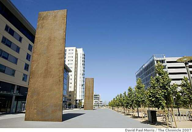 Outdoor sculpture by Richard Serra is shown at UCSF Mission Bay. Photo: David Paul Morris, The Chronicle 2007