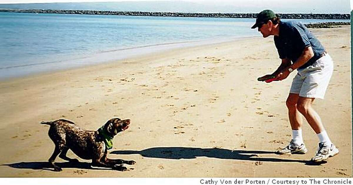 Eric Von der Porten plays with his dog, 11-year-old Otto, a German Short-haired Pointer, in Half Moon Bay, Calif., in Dec. 2005. Von der Porten, who ran a small, San Carlos-based investment fund, killed himself on Dec. 2, 2008. According to his family, Von der Porten had become very depressed as the stock market collapsed in recent months.