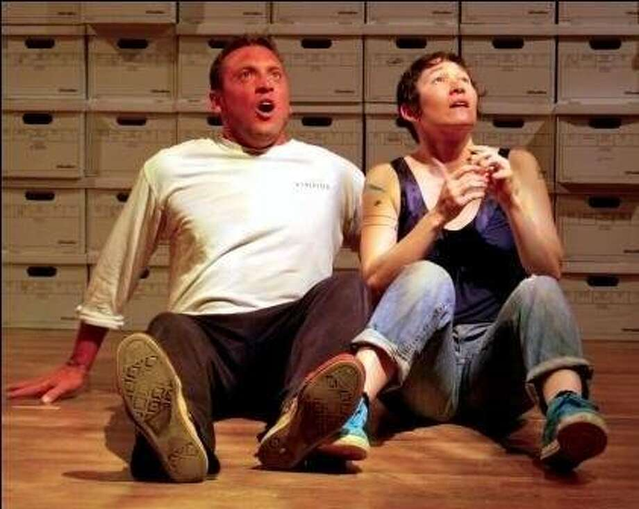 "Joe Estlack and Erin Mei-Ling Stuart (right) in Mugwumpin's ""This Is All I Need"" Photo: Diana Blackwell"