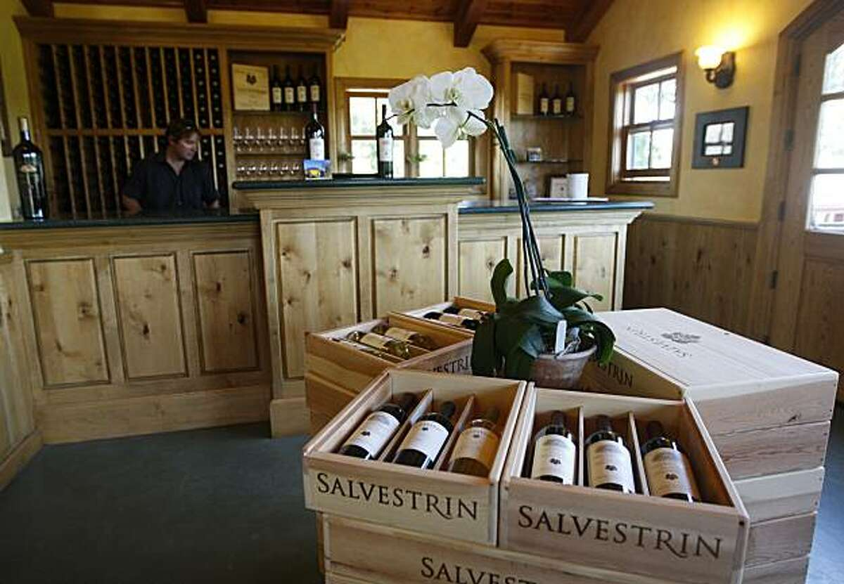 The Salvestrin Winery tasting room is seen in Saint Helena, Calif., on Thursday, July 8, 2010.