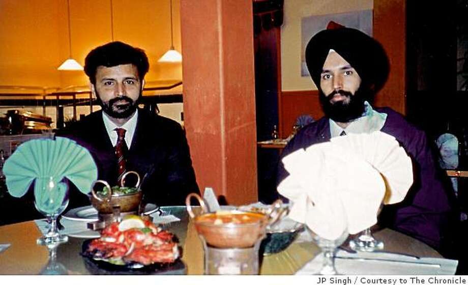 On left Parminder (Pammi) Singh Kalsi and on right Ravinder (Ravi) Singh Kalsi, who were shot and killed in their restaurant, Sahib, in Richmond 12/27/07. Photo was taken in the restaurant. Photo: JP Singh, Courtesy To The Chronicle
